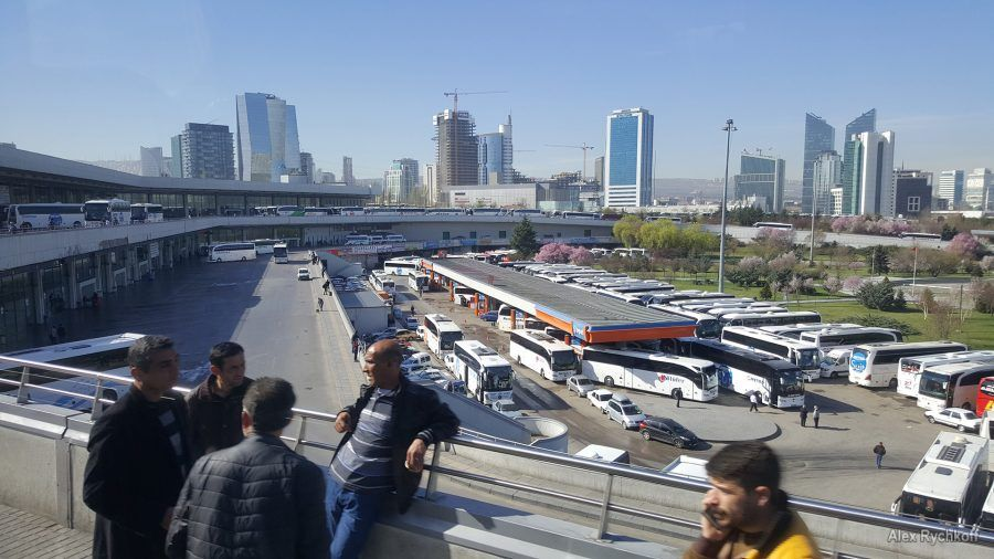Huge Astı bus terminal in Ankara