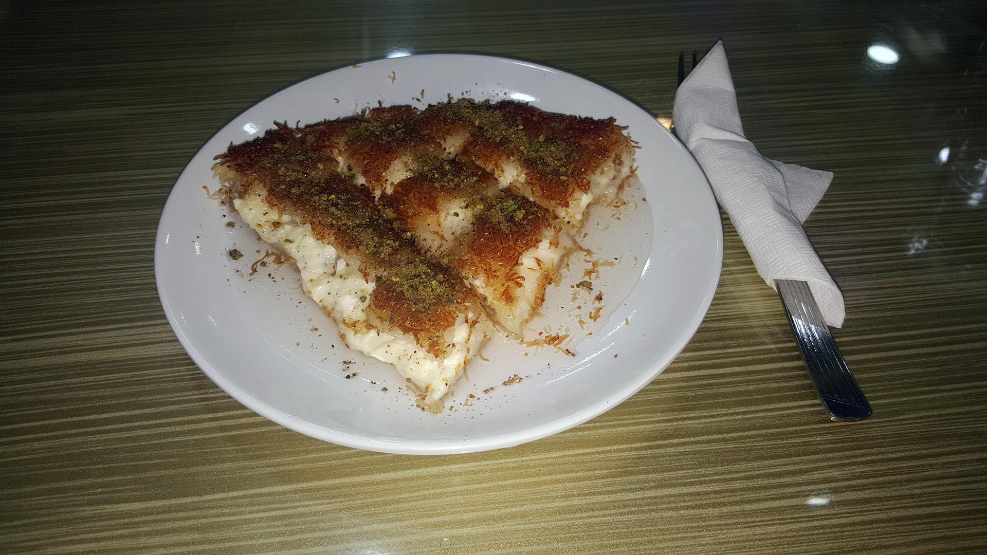 Künefe: popular Turkish dessert which originate from Palestine