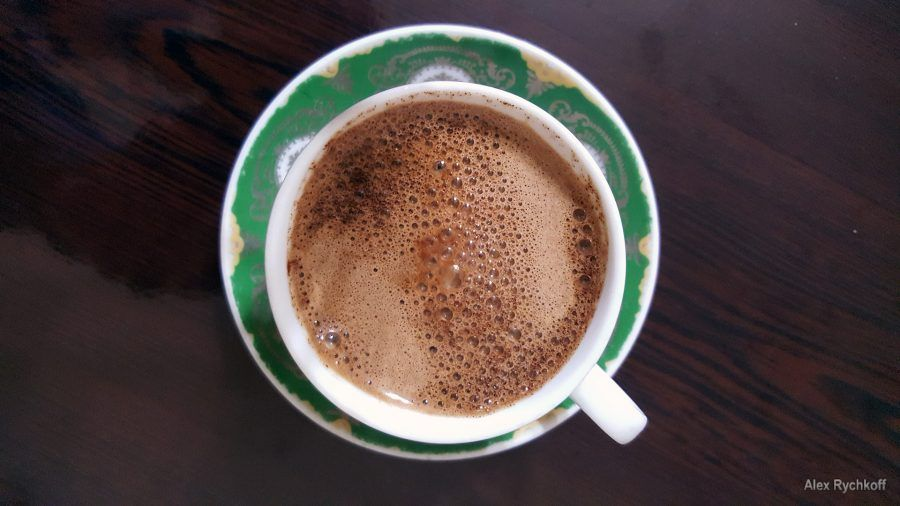 Well-cooked Turkish coffee