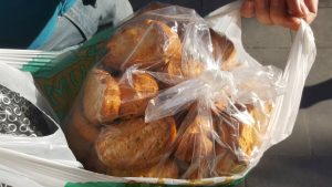 Special local type of dried bread from Mardin