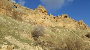 Abandoned Assyrian monastery on the top of the ridge near modern Deyrulzafaran Monastery