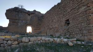 Abandoned Assyrian monastery on the top of the ridge near modern Deyrulzafaran Monastery