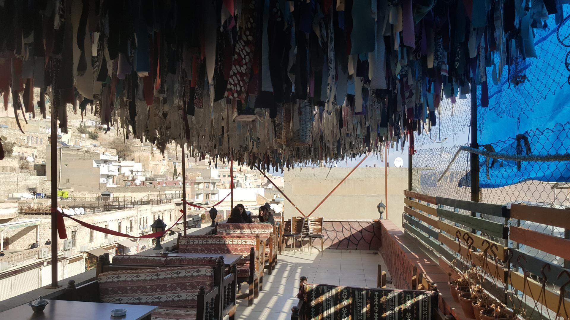 Secret cafes in the old part of Mardin which is not easy to find